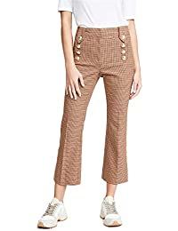 Women's Corinna Cropped Flare Pants with Sailor Buttons