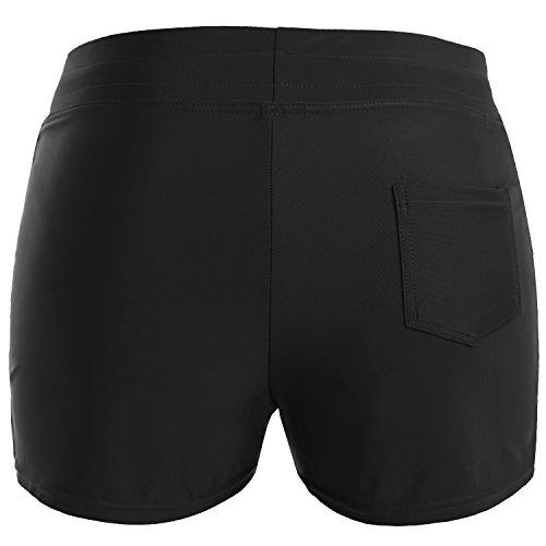 Vegatos Womens Solid Boardshorts Swimming Shorts Swim Bottoms Surfing Boyshorts Black by Vegatos (Image #2)