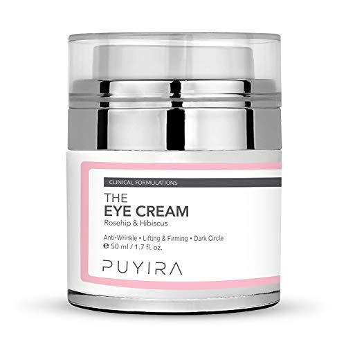 PUYIRA Rosehip Eye Firming Anti-Wrinkle Cream Moisturizer, 1.7 oz, with Rosehip Oil and Hibiscus Flower Extra, vitamin C, Hypoallergenic Cream to Reduce Fine Lines & Wrinkles and Brighten Dark Circle