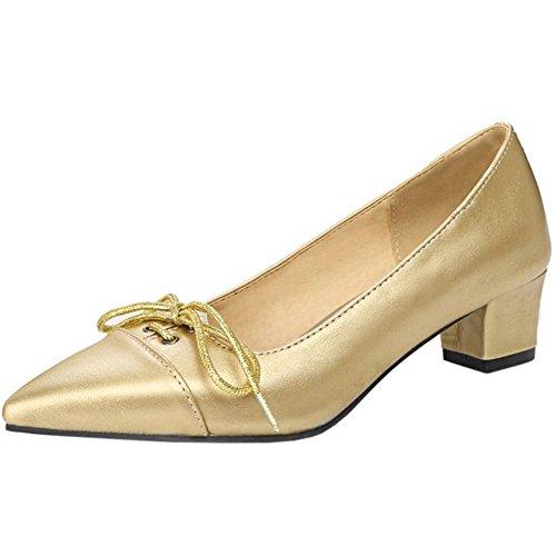 Gold Femmes Escarpins Petits Talons Zanpa dSqwIv1I