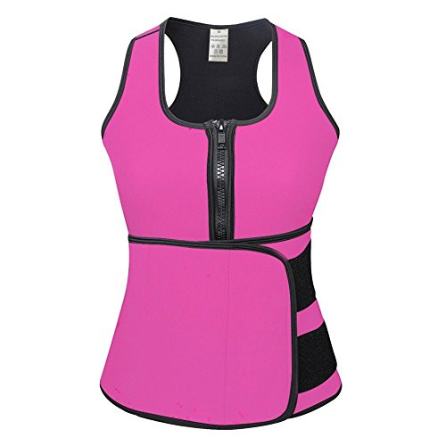 0dce878fa8a3b KINJOHI Women s Plus Size Waist Trainer Vest for Weight Loss Pink 3XL