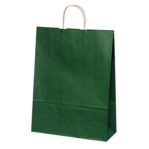 【ケース販売】 手提袋 HV100 エメラルド 巾:380×:150×高さ:500㎜ 200枚(50枚×4包) B079ZW4137