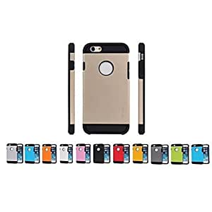 PEACH ships in 48 hours Armor Design Silicone Back Case for iPhone 6 (Assorted Colors) , Dark Blue