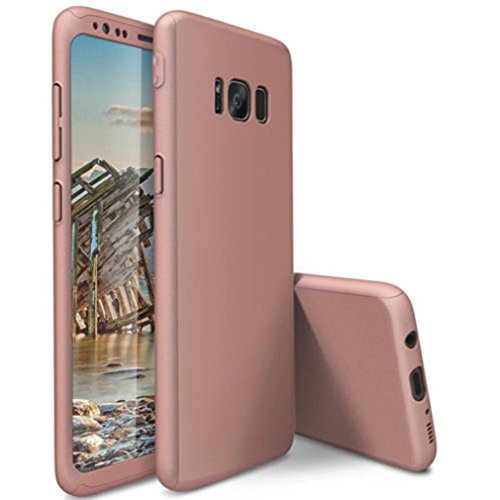 Beige Protector Case - For Samsung Galaxy S8 Plus 6.2inch, Mchoice 360° Full Cover Shockproof Hard Phone Case+Protector Film For Samsung Galaxy S8 Plus 6.2inch (Rose Gold)