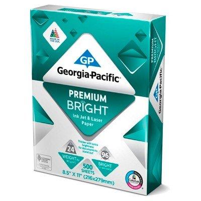 Georgia Pacific174; Printer Paper Letter Size 24lb Premium Bright 500ct White