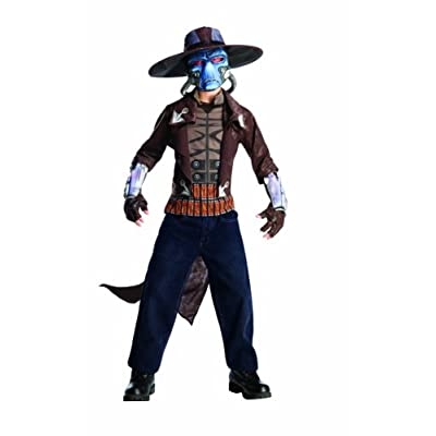Star Wars The Clone Wars, Child's Deluxe Costume And Mask, Cad Bane Costume, Large (12-14): Toys & Games