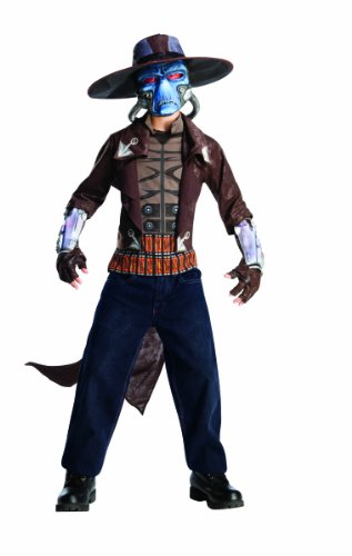 Rubies Star Wars Clone Wars Child's Deluxe Cad Bane Costume and Mask, Medium]()