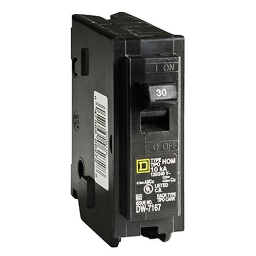 SQUARE D BY SCHNEIDER ELECTRIC HOM130C SP Circuit Breaker, 30 Amp