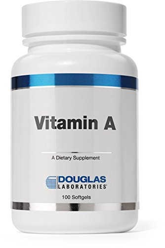 Douglas Laboratories Vitamin A 10,000 I.U. Vitamin A Derived from Fish Liver Oil 100 Softgels