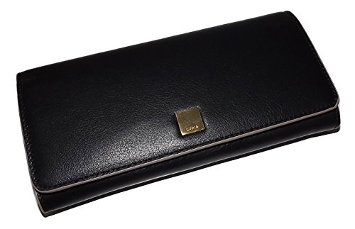 Lodis Womens Leather Bifold RFID Protected Credit Card Clutch Wallet Black