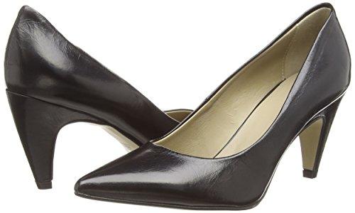 Negro Tacón Zapatos Cerrados Piel Schwarz Noe Antwerp nero 101 Mujer De Nirma AaOq8