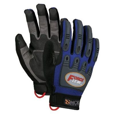 - Memphis Glove 127-B100L Forceflex Dry Grip Tpr Protection- Hook- Loop L