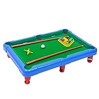 Fenteer ミニ卓上ゲームおもちゃ ポータブル ビリヤードゲームセット 子ども 室内おもちゃ 全2色 - 青の商品画像