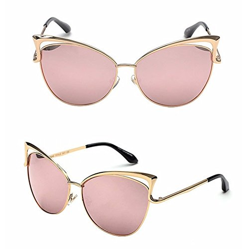 Doober Women Gold Retro Cat Eye Sunglasses Classic Designer Vintage Fashion - Personalized Sunglasses Bulk