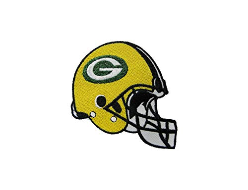 (NFL Green Bay Packers Embroidered Helmet Patches 3 1/2