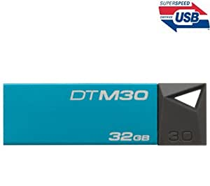 DataTraveler Mini 3.0 - USB flash drive - 32 GB - USB 3.0 - cyan + USB Type-A Male/Female Extension Lead - 2 metres - MC922AMF-2M + USB-201K Case - black