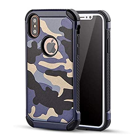 Excelsior Military Style Back Cover Case for Apple iPhone XR 6.1 Inch  Blue  Cases   Covers