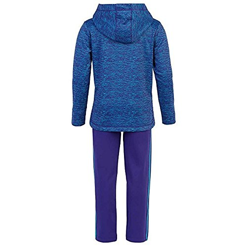 Girl's 2 Piece Set - Sweater and Sweatpants - Adidas - Blue and Purple (6X)