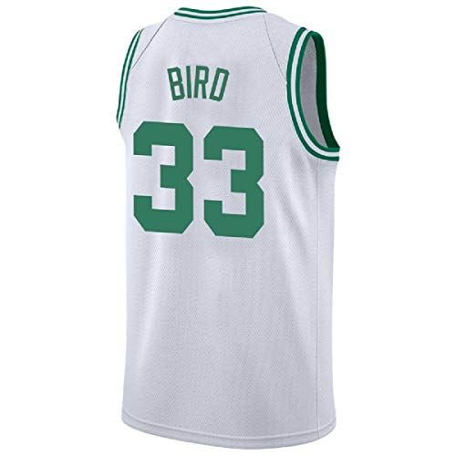 Youth Bird Jersey Boston 33 Kid's Basketball Jersey Larry Boy's Jerseys Green and White(S-XL) (White, S)