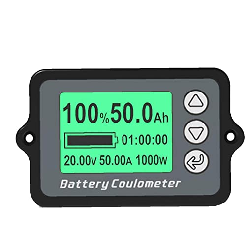 ODOUKEY -Batterij Capaciteit Teste Batterij Indicator Batterij Capaciteit Tester TK15 50A Voltage Gauge Meter met LCD…
