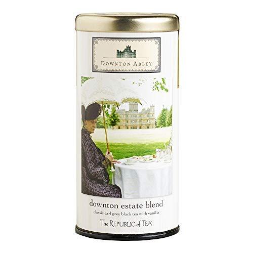 Republic of Tea Downton Abbey Estate Blend Classic Black Earl Grey Black Tea with Vanilla 36 Tea Bags