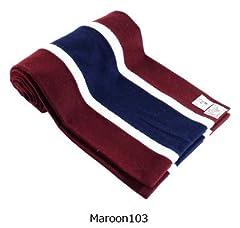 Wool Scarf: Maroon