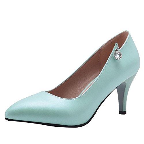 Bleu Escarpins Pointu Sur Glissement Chaussures Élégant Femmes Mee Des Bout PABgwz