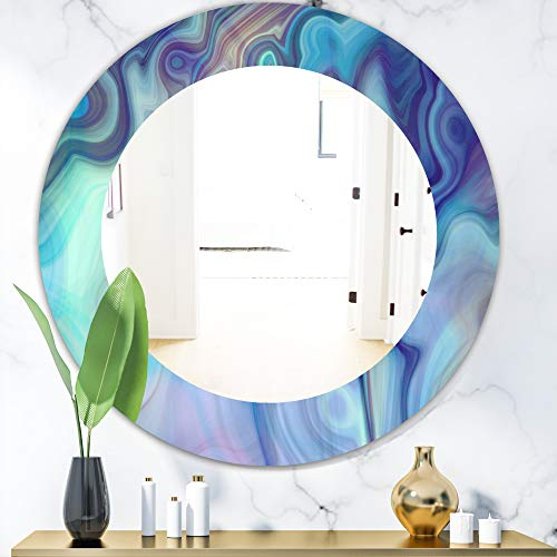 Designart 'Marbled Geode 8' Modern Wall Mirror Framed Mirrors, Large Oval or -