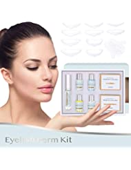 Glossiva Premium Eyelash Perm Kit Full Eyelash Lift Kit - Professional Quality, Semi-Permanent Curling Perming Wave, Lotion & Liquid Set