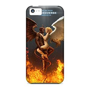 BeverlyVargo LhV1363WBJT Protective Cases For Iphone 5c(angel And Devil)