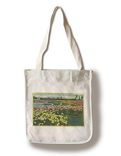 San Jose, California - Municipal Rose Garden in Santa Clara County (100% Cotton Tote Bag - Reusable, Gussets, Made in - Santa Shopping In Clara