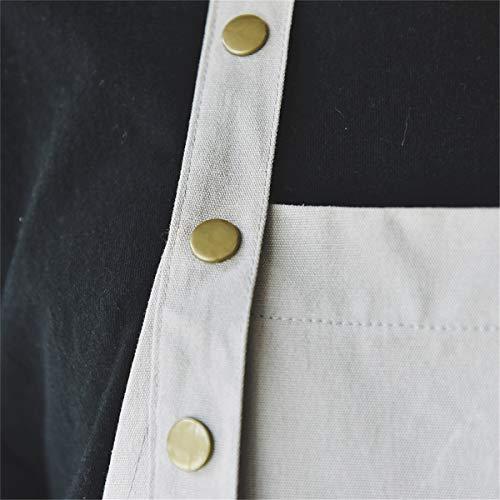 HouSea Cotton Aprons for Women Men with Pockets Art Artist Waterproof Restaurant Kitchen Cooking Workshop Dishwasher… 5