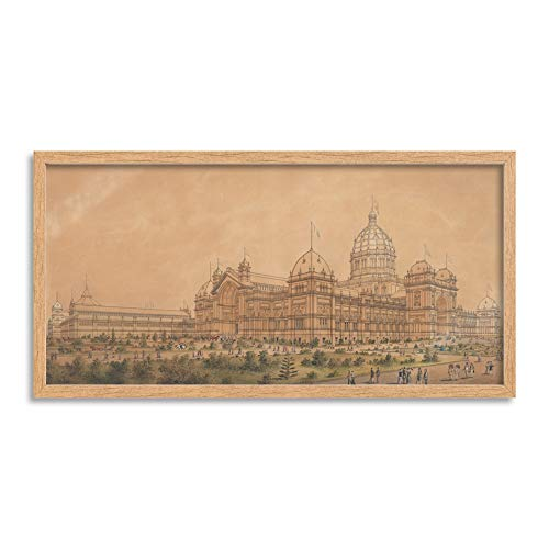 (Joseph Reed The Exhibition Melbourne 1880 The South West Long Framed Art Print Wall Poster 25x12 inch)