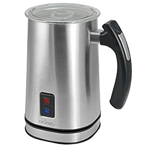 Brewberry Electric Milk Frother & Heater for Extra Foamy Cappuccino, Latte & More, Stainless Steel, Cordless Detachable Base For Easy Serving
