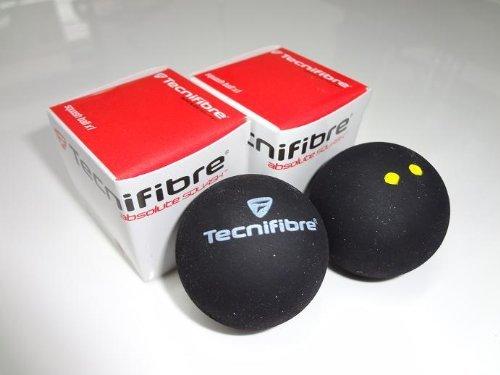 Tecnifibre Double Yellow Dot Squash Balls - 1 doz