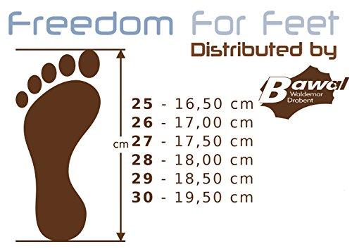 3f freedom for feet Jungen Freizeitschuhe Turnschuhe - Sport - Kinder Hausschuhe mit Klettverschluss Kindergartenschuhe mit Leder Einlegesohlen Größe 27-32 Grün Football 3RX5/6