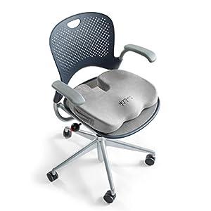 ComfiLife Premium Comfort Seat Cushion – Non-Slip Orthopedic Memory Foam Coccyx Cushion for Tailbone Pain – Office Chair Car Seat Cushion – Back Pain & Sciatica Relief