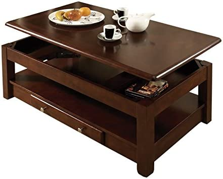 Best living room table: BOWERY HILL Solid Wood Lift Top Coffee Table