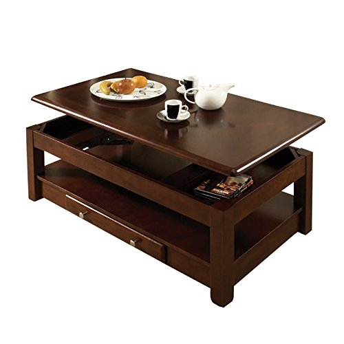 Cheap Steve Silver Company Nelson Lift-Top Cocktail Table, Cherry