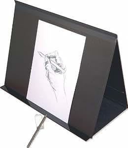 Clairefontaine 48606C - Carpeta y caballete de dibujo con gomas (30 mm, DIN A3, interior 29,7 x 42 cm, exterior 32 x 45 cm), color negro