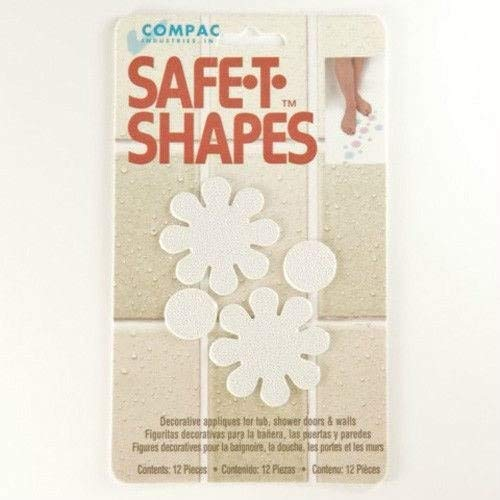 (White Daisy) Safe-t-shapes Safety Applique Anti-slip Bath Tub Shower Sticker - Shape Bathtub