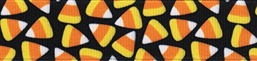 (Country Brook Design | 5/8 Inch Candy Corn Grosgrain Ribbon, 10)