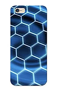 New Bovezb-1542-uorntui Honeycomb Pattern Tpu Cover Case For Iphone 6 Plus - Best Gift Choice For Christmas
