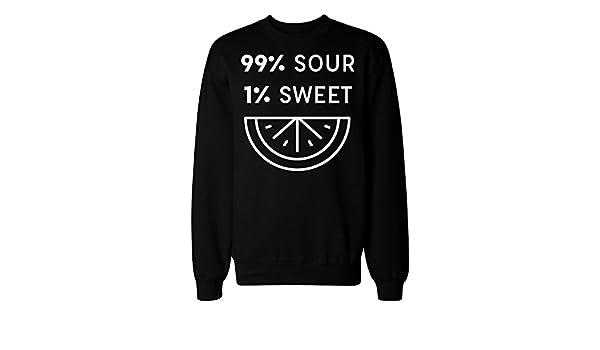 IDcommerce 99/% Sour 1/% Sweet Lemon Design Mens Womens Unisex Sweatshirt