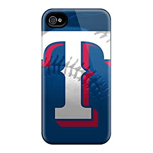Snap-on Texas Rangers Logo And Baseball Case Cover Skin Compatible With Iphone 4/4s
