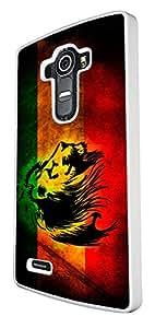 Rasta Lion Jamaican Style Design LG G4 Fashion Trend Cool Case Back Cover Plastic & Metal