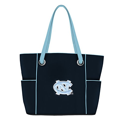 (Charm14 NCAA North Carolina Tar Heels Deluxe Tote Bag with Embroidered Logo)