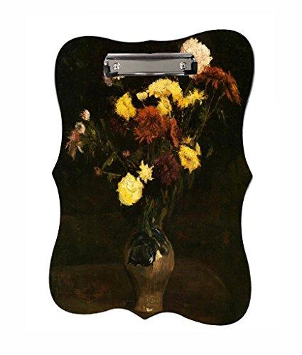 Vincent Van Gogh's Basket of Carnations and Zinnias - Jacks Outlet TM - Benelux Shape 2-Sided Hardboard Clipboard