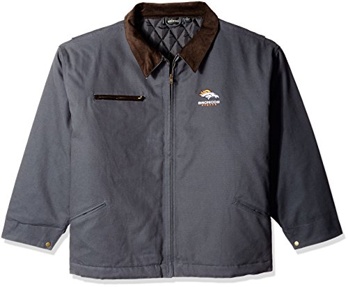 NFL Denver Broncos Tradesman Canvas Quilt Lined Jacket, Navy, X-Large by Dunbrooke Apparel