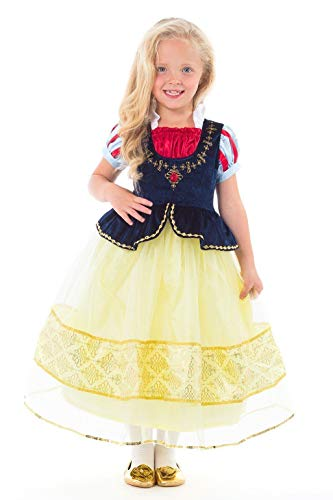 Little Adventures Deluxe Snow White Princess Dress Up Costume (Medium Age 3-5)]()